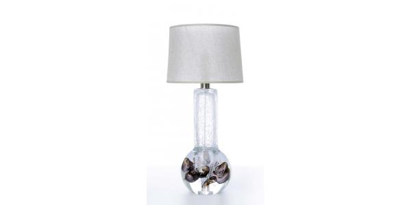 Gita brown crystal lamp