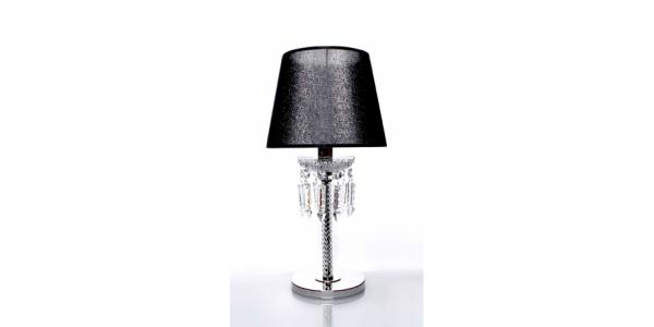 Ahora black crystal lamp